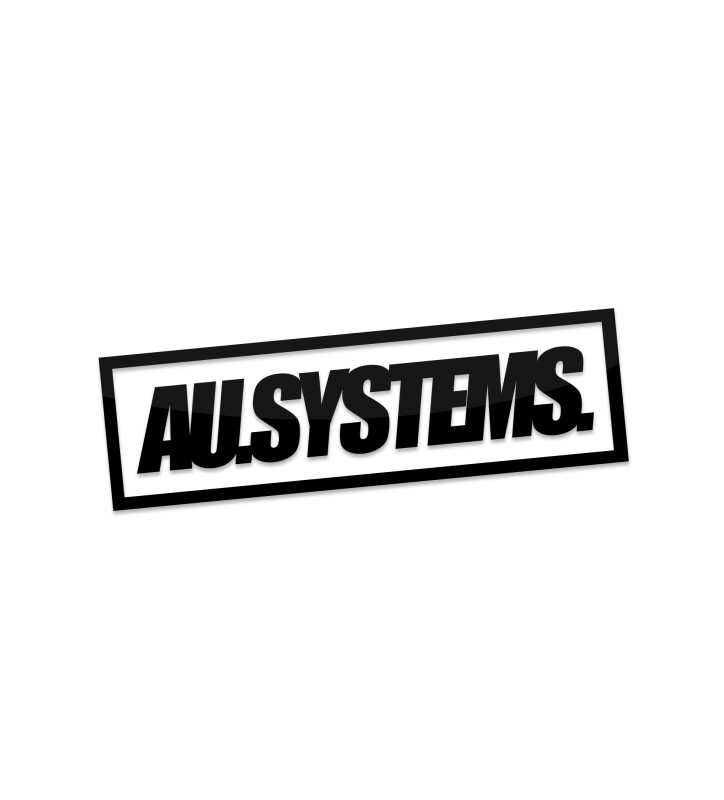 STICKER // AU.SYSTEMS. // Black